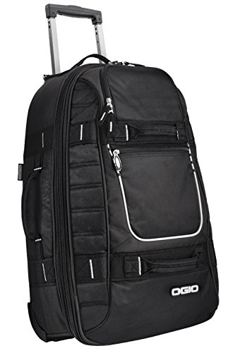 OGIO Pull-Through Travel Rolling Suitcase Luggage - Black by OGIO