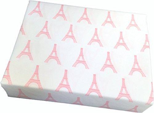 Paris in Pink Eiffel Tower Girls 3pc Sheet Set Twin (Twin Sheets Paris)