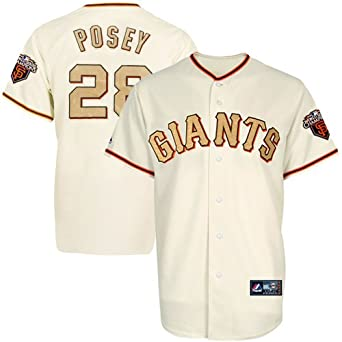 online store aeb0e bcc43 Amazon.com: Majestic MLB Buster Posey San Francisco Giants ...