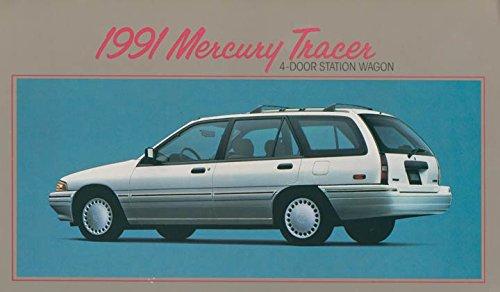 1991 MERCURY TRACER 4-Door STATION WAGON VINTAGE LARGE COLOR POSTCARD - USA - EXCELLENT ORIGINAL POST CARD (1991 Wagon)