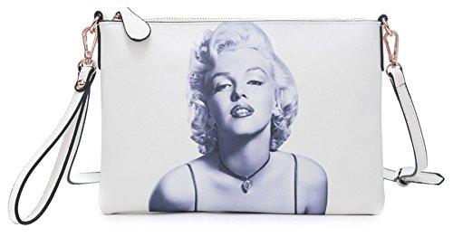 Extra Grande Bolso Del Cuero Mitón 4 Blanco Gran Marilyn De Tienda Noche De Embrague Para De De Mujer De Del Hombro Monroe Vegano Bolsos Wq8wzqSU7
