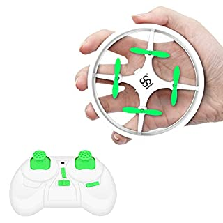 Mini Drones for Kids and Beginners Training RC Nano Quadcopter Indoor Small UFO Helicopter Toys with Altitude Hold, Headless Mode, One Key Return, 3 Speed Adjustment, LED Lights, White