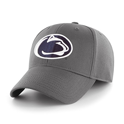 OTS NCAA Penn State Nittany Lions Comer Center Stretch Fit Hat, Charcoal, Medium/Large - State Fitted Hat