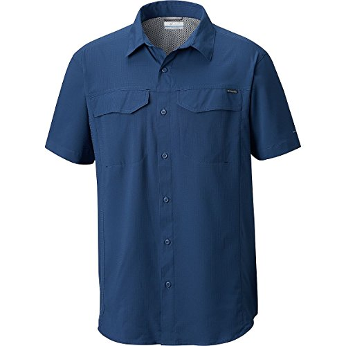 Columbia Mens Silver Ridge Lite Short Sleeve Shirt, Carbon, Small