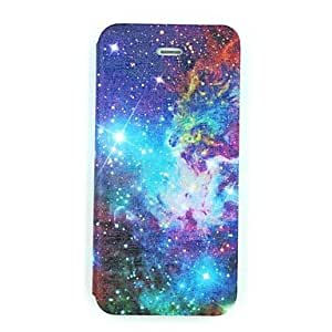 SOL Colorful Galaxy Pattern PU Leather Full Body Case for iPhone 5/5S