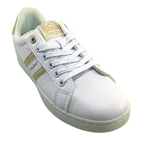 Chilina Blanco dorado Niña Zapatilla Jhayber Color Yw711F