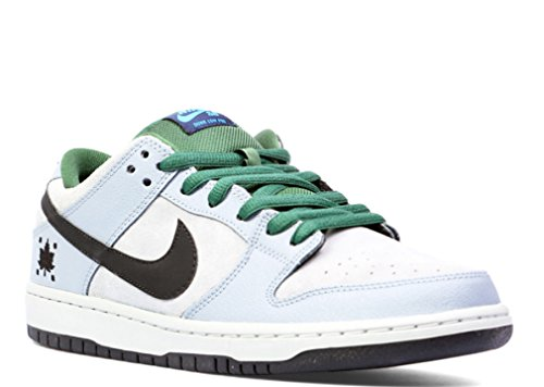 Nike Mens Dunk Low Premium SB Dove Grey/Black-Gorge Green Suede Skateboarding