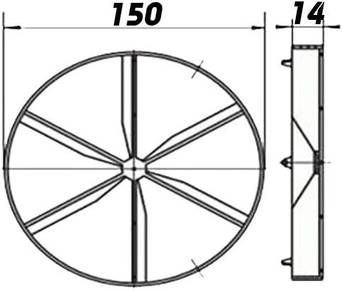 Glimmerr/ückschlagklappe f/ür Ventilatoren//L/üfter /Ø125mm