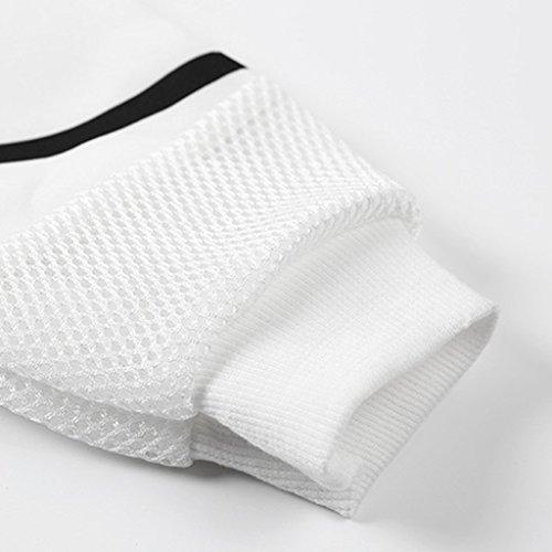 Jiayiqi Mujeres De Impresión Digital Suéter De La Corto Cultivos Top Con Capucha Sudaderas Blanco