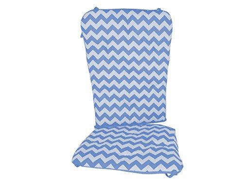 Baby Doll Bedding Chevron Rocking Chair Pad, Blue