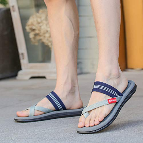 Naladoo Men Women Beach Flip Flops Flat Sandals Summer Outdoor Slip-On Slippers by Naladoo Men's Shoes (Image #3)