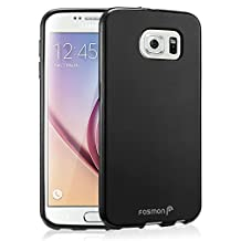 Fosmon® Samsung Galaxy S6 Case (DURA-FRO) TPU Slim-Fit Flexible TPU Gel Cover for Galaxy S6 - Fosmon Retail Packaging (Black)