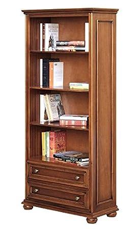 Arteferretto Meuble bibliothèque Classique 2 tiroirs: Amazon.fr ...