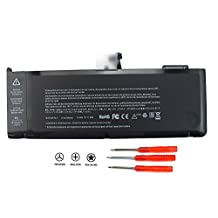 Powerhut Li-Polymer 10.95V 7200mAh/77.5Wh Laptop Battery for Apple A1382 A1286 [only for Core i7 Early 2011 Late 2011 Mid 2012] Unibody MacBook Pro 15'' inch i7 Notebook, fits 661-5476, 661-5211