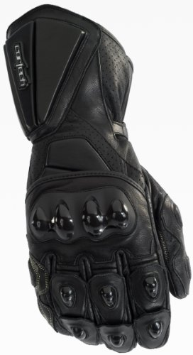 Cortech Latigo RR Mens Black Leather Gloves - 4X-Large ()