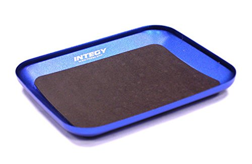 Integy RC Model Hop-ups C23347BLUE Magnetic Parts Storage Tray 88x107mm for Hardware, Screws & Nuts