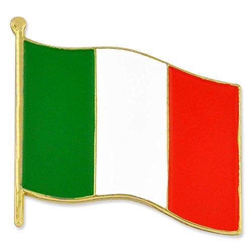 PinMart's Italy Italian World Flag Enamel Lapel Pin 3/4''