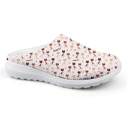 Coloranimal Summer Beach Water Lightweight Slip on Flats Backless Sandals Cat Puzzle-1 5xY1mE