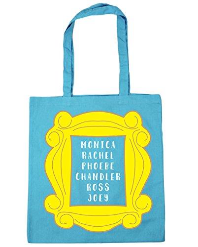 HippoWarehouse Phoebe Rachel Monica Joey Chandler Ross en marco bolsa de la compra bolsa de playa 42cm x38cm, 10litros azul (Surf Blue)
