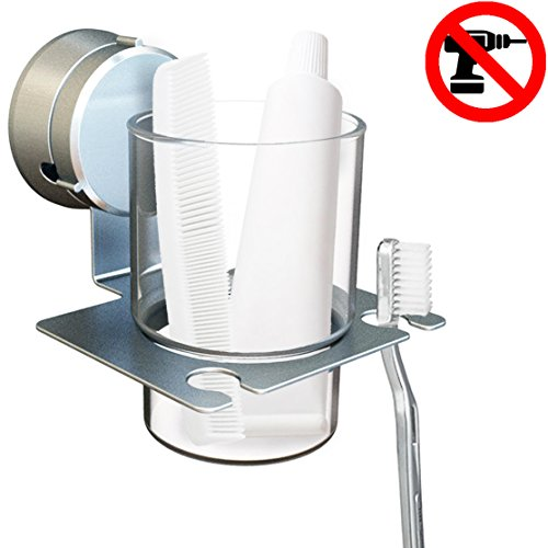 Toiletry Glass Holder Suction Hanger product image