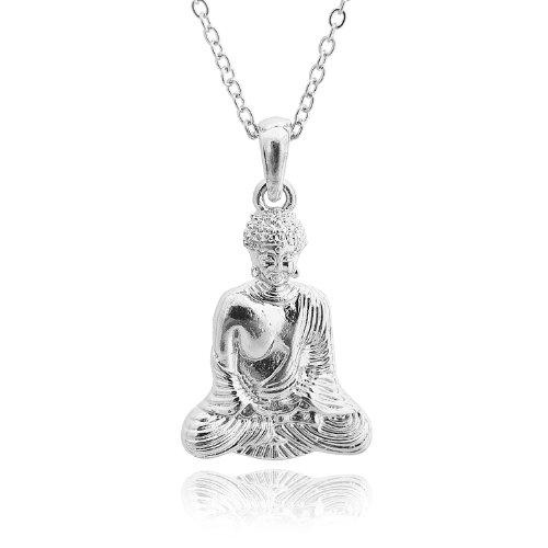Serenity Now Meditating Buddha Necklace