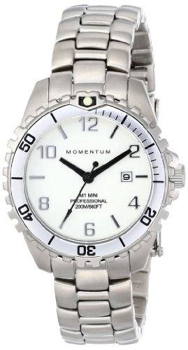 Momentum Women's 1M-DV07WS0 M1 Mini Analog Display Japanese Quartz Silver Watch