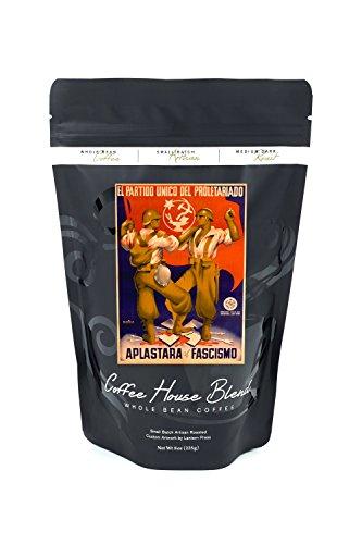 l Partido Unico del Proletariado - Aplastara al FascismoPoster (artist: Parrilla) Spain c. 1937 (8oz Whole Bean Small Batch Artisan Coffee - Bold & Strong Medium Dark Roast w/ Artwork) by Lantern Press