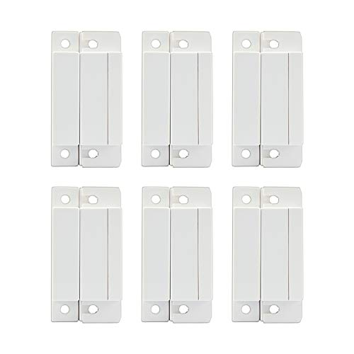 Mbangde Lot of 6 Wired Magnetic Door Window Contact Reed Switch Personal Gap Alarm - Cabinet Strip Light Switch NO NC DIY Kit