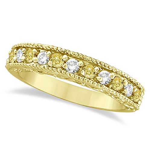 Fancy Yellow Canary and White Diamond Ring Band 14k Yellow Gold (0.50ct) Canary Diamond Wedding Rings