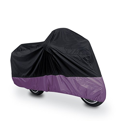 "uxcell XL 180T Rain Dust Protector Black+Purple Scooter Motorcycle Cover 96"" Fit to All Scooter & Mopeds Yamaha Honda Suzuki Kawasaki Ducati Bmw"