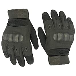 FabSeasons Cycling, Riding, Mountain Bike, Full Finger Anti-Slip Gloves for Men and Women (Free Size , Black)