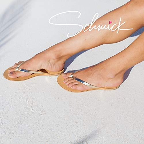 Tongs D'été Femmes Naturel Plates Luca Sandales Or Chaussures Schmick UZ5Ofqxwx