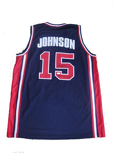 Larry Johnson Autographed Jersey - USA Gold Medal Olympic for sale  Delivered anywhere in Canada