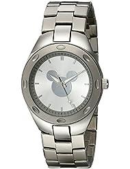 Disney Mens W001903 Mickey Mouse Analog Display Analog Quartz Silver Watch