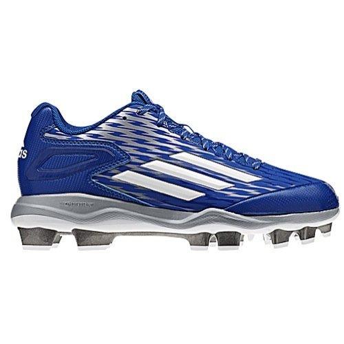 adidas Women's PowerAlley 3 TPU Collegiate Royal/White/Grey Metallic Sneaker 7.5 M by adidas