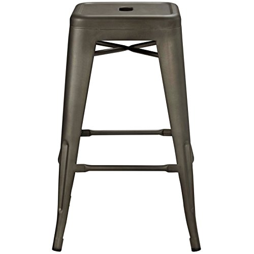 Modern Urban Industrial Distressed Antique Vintage Counter Stool Chair ( Set of 2), Brown, Metal by America Luxury - Stools (Image #3)