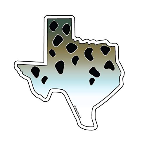 Mountain Creek Anglers Texas Speckled Sea Trout Sticker Decal ()