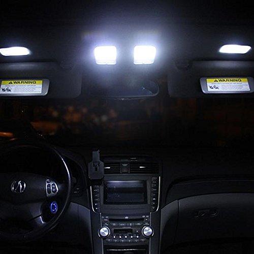 Partsam 6PCS White Interior LED Lights Package Kit