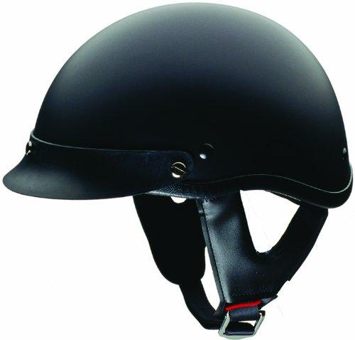 (HCI-100 Half Helmet (Matt Black, Small))
