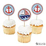 Nautical Sailor Theme Cupcake Picks - 25 ct