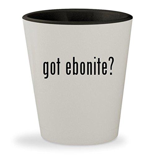 got ebonite? - White Outer & Black Inner Ceramic 1.5oz Shot Glass