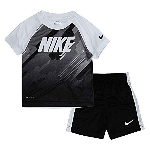 Nike Kids Outfit - Nike Boys Top and Bottom 2PC Outfit Set (4T, Black)