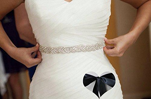 KunLai Black Wedding Belt, Bridal Belt, Sash Belt, Bridesmaid Belt, Crystal Rhinestone Bridesmaid Rhinestone