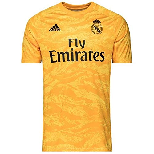 adidas 2019-2020 Real Madrid Home Goalkeeper Football Soccer T-Shirt Jersey -