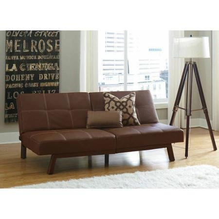 Brown Delaney Split-Back Futon Sofa Bed, Multiple Colors (Delaney Sofa)