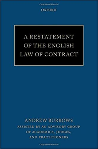 Book A Restatement of the English Law of Contract