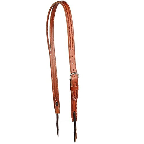 - Martin Saddlery Ranahan Split Ear Chestnut Rope Border Headstall