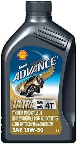 Shell ADVANCE ULTRA シェル アドバンスウルトラ 4T 15w50 1L [並行輸入品]