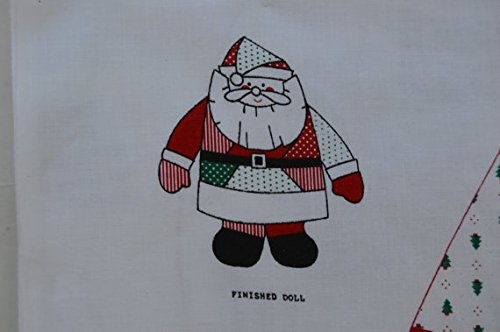 (Santa Doll/Pillow Fabric Panel - Finished Size Approx. 29