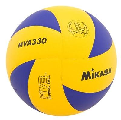 Mikasa MVA330 Spiral Club Volleyball (Blue/Yellow) by Mikasa